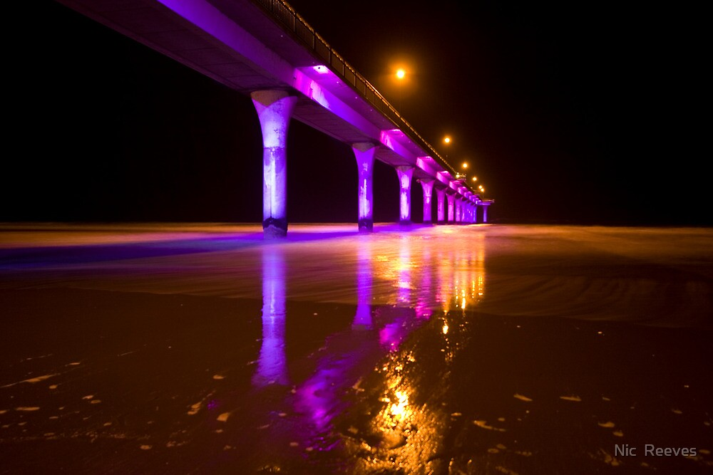 Christchurch Pier at Night by Nic  Reeves