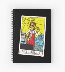 The Barista Tarot Card Spiral Notebook