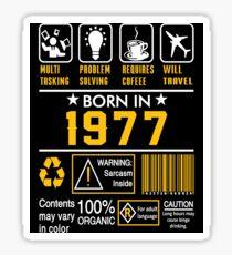 Birthday Gift Ideas - Born In 1977 Sticker