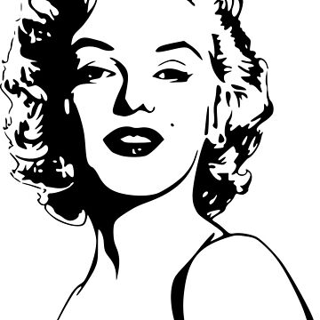 Marilyn Monroe Portrait by SloganT-Shirt