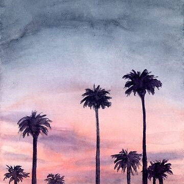 Palm City - Watercolour Painting by patti2905