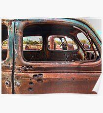 Bullet Hole Car Poster