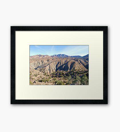 Santa Rosa Mountains Framed Print