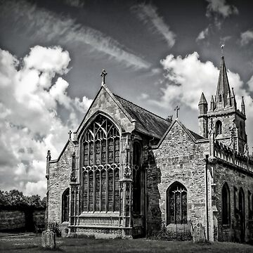 St Lawrences Church. B&W by ScenicViewPics