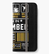Birthday Gift Ideas - Born In DECEMBER iPhone Wallet/Case/Skin
