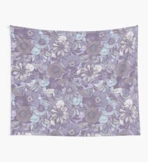 Hellebore lineart florals   soft winter Wall Tapestry
