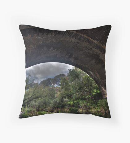 The Merry Creek under the Heidelberg road bridge Throw Pillow