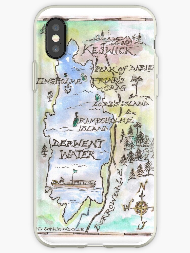 Swallows and Amazons map of Derwentwater by Sophie Neville by Sophie Neville