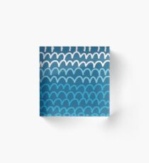 scribble wave Acrylic Block