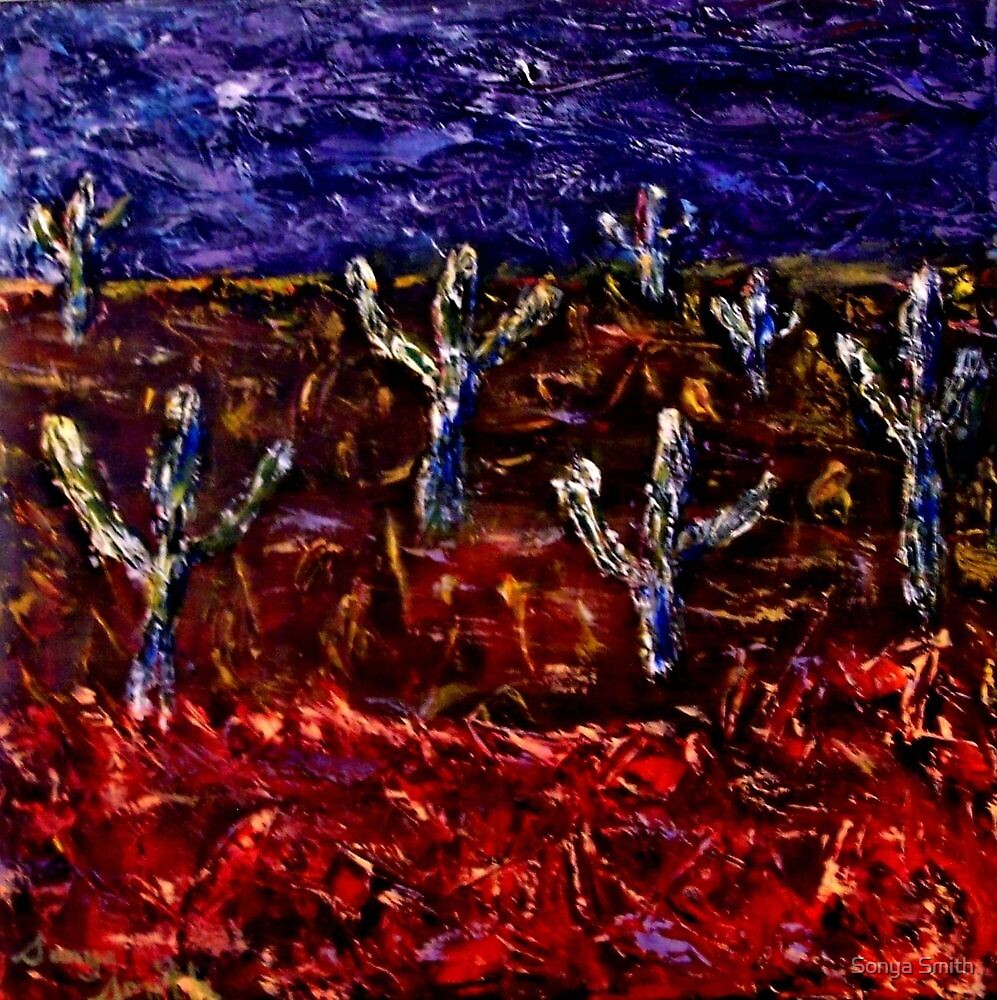 CACTUS GARDEN - Landscape by Sonya Smith
