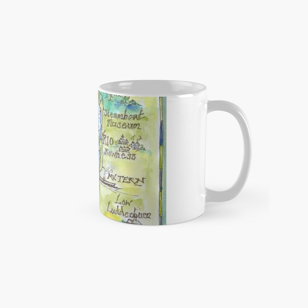 Swallows and Amazons map of Windermere by Sophie Neville Standard Mug