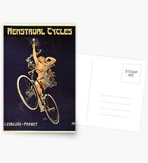 Vintage Bicycle Poster Parody - Menstrual Cycles Postkarten