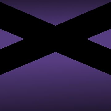 Black Crisscross on Purple by ElaphusHouse