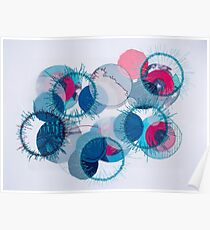stitched circles Poster