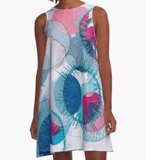 stitched circles A-Line Dress
