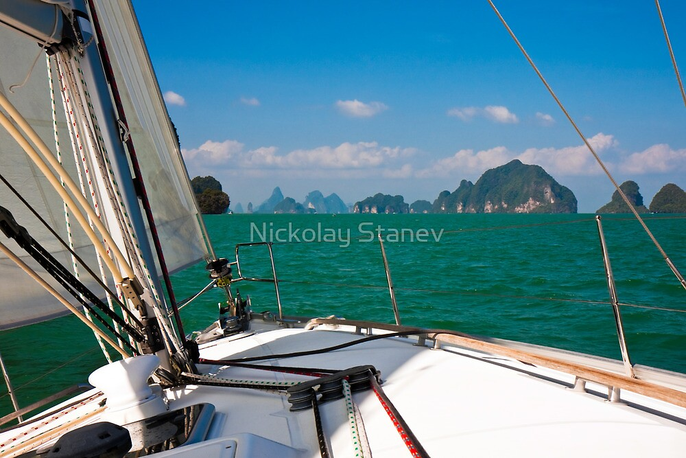 Sailing in Thailand by Nickolay Stanev