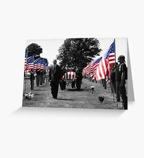 Fallen Soldier Greeting Card