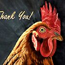 Red Hen - Thank You Card by EuniceWilkie