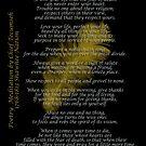 """""""Lebe dein Leben"""" Goldene Feder von Chief Tecumseh von Irisangel"""