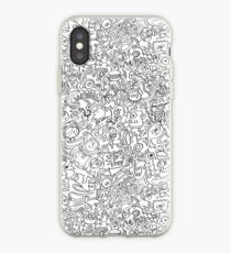 Odd creatures are escaping from my mind, I can't stop doodling iPhone Case