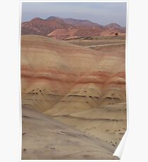 Oregon Painted Hills at Sunset Poster