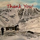 Scottish Mountain - Thank You Card by EuniceWilkie