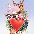 Xmas heart by Maria Tiqwah by Maria Tiqwah