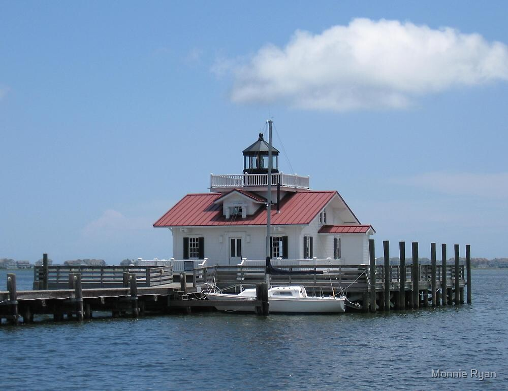 Roanoke Marshes Light Station by Monnie Ryan