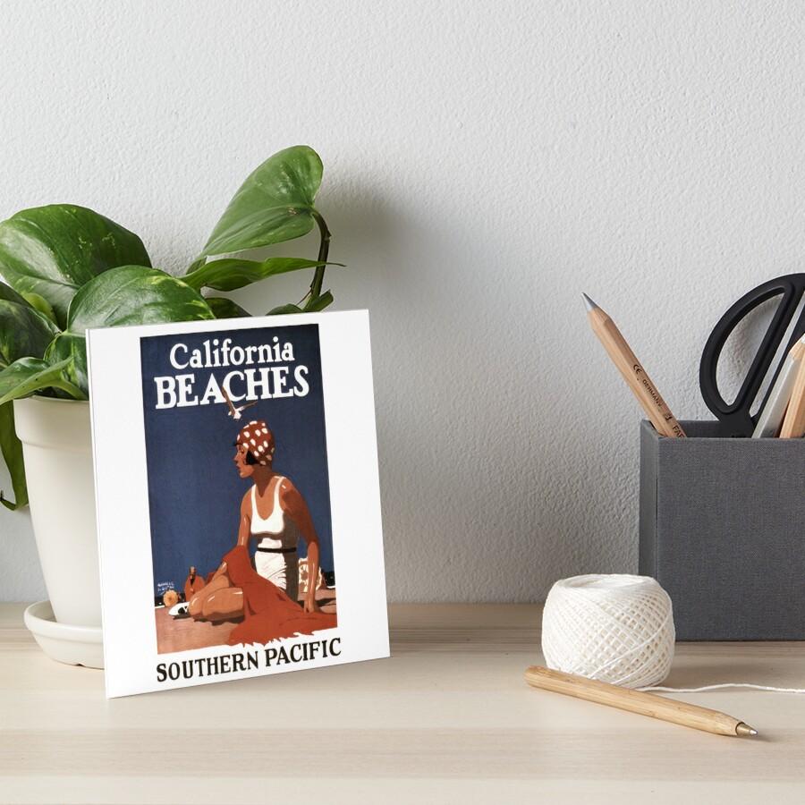 Vintage Travel Poster: California Beaches by Chunga