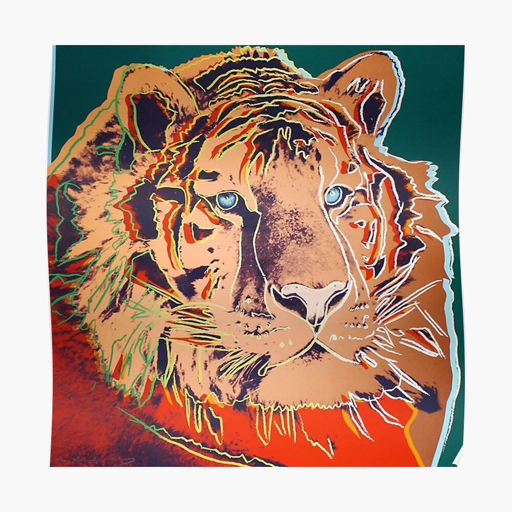 Sibirischer Tiger - Andy Warhol Poster
