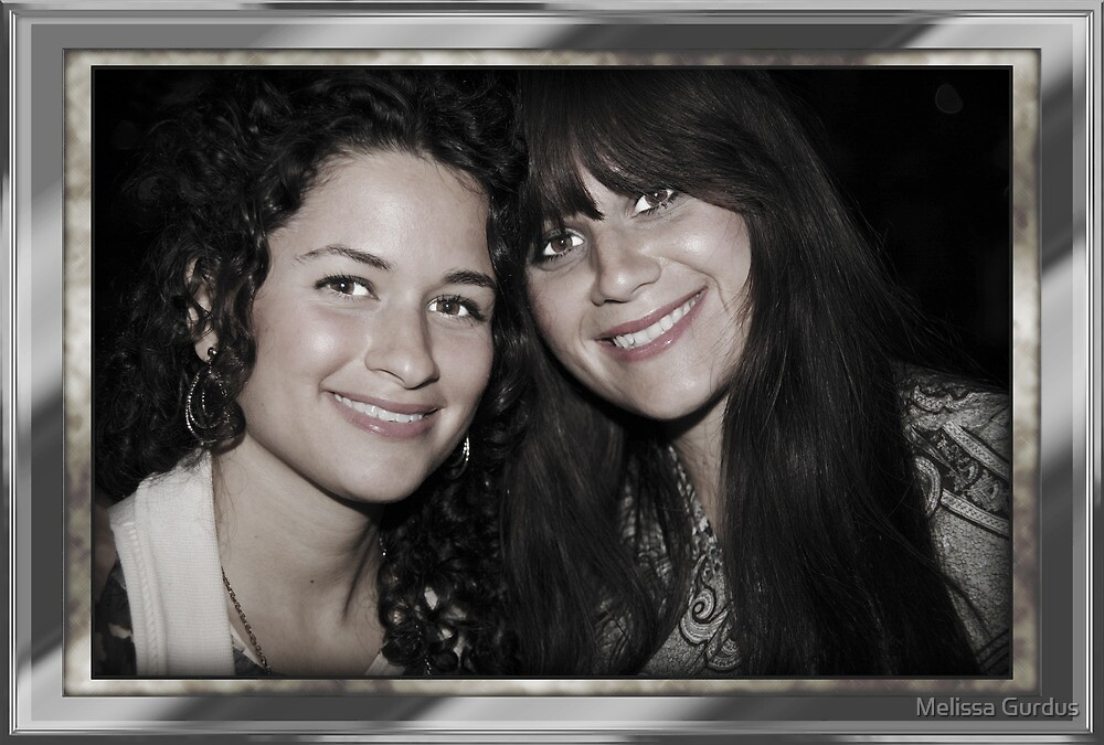 Sisters Framed and Antique by Melissa Gurdus