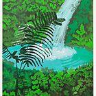 Rainforest Waterfall by Roza Ganser