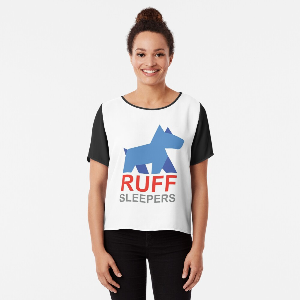 Ruff Sleepers Fundraising Campaign Women's Chiffon Top Front