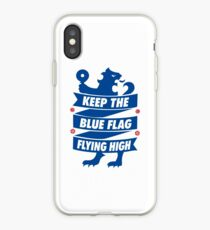 Chelsea FC - Keep The Blue Flag Flying High | Typography Design | T Shirt | Poster | Phone Case | Mug | Wall Art | Home Decor and more! iPhone Case