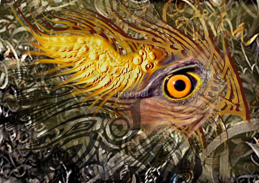 Winged Eye - Original by fireopal