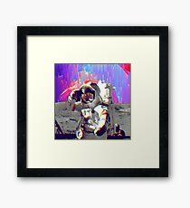 Rainbow Galaxy Astronaut Framed Print