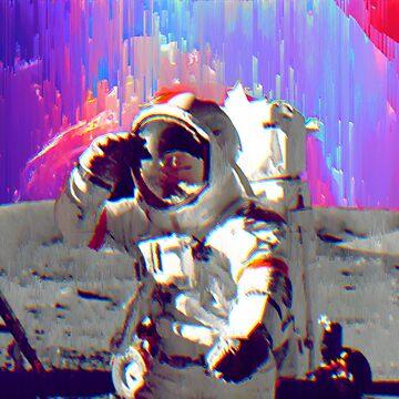 Rainbow Galaxy Astronaut by nickjaykdesign