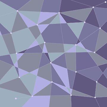 Abstract random geometric pattern Purple by Russell102