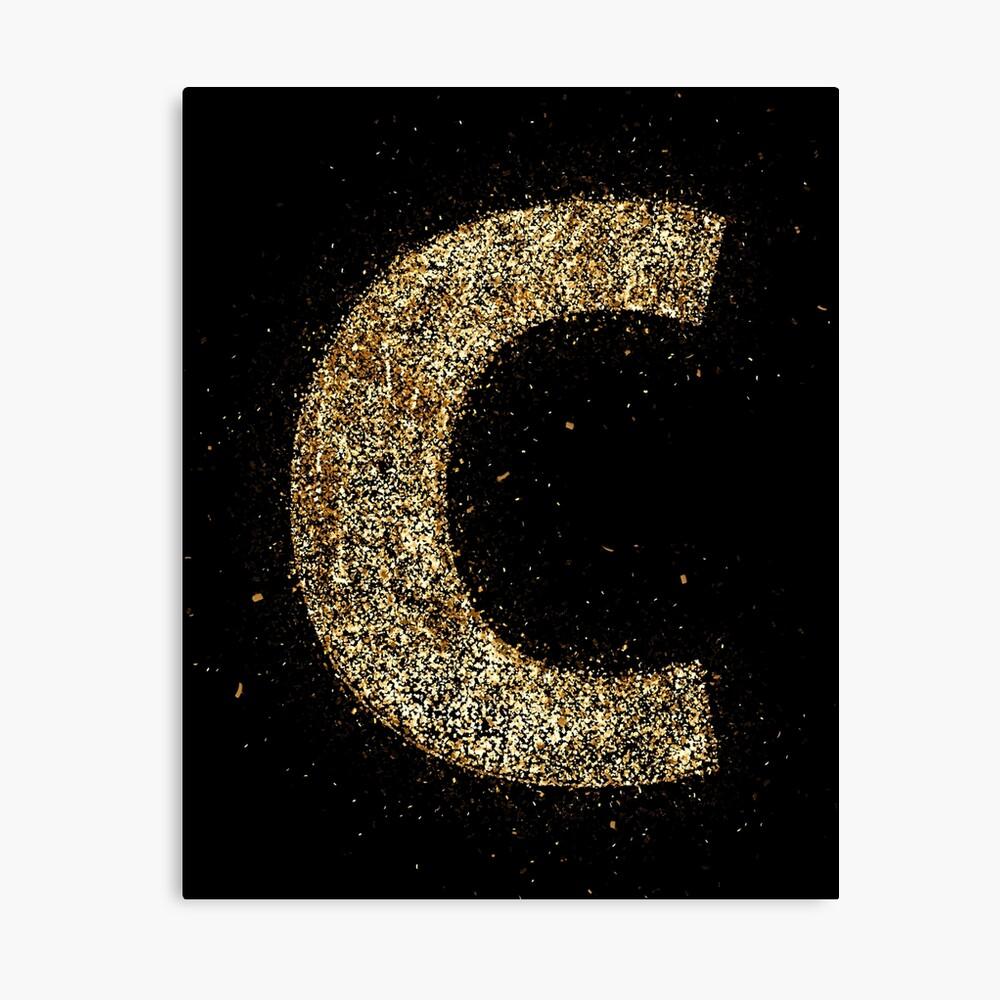 Letters abc wood golden ornament Gold Lienzo