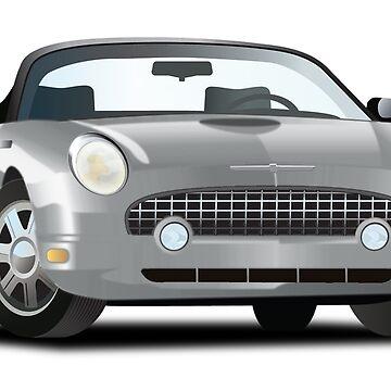 2002-2005 Ford Thunderbird Grey by azoid