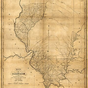 Map of Illinois by John Melish (1818) by allhistory