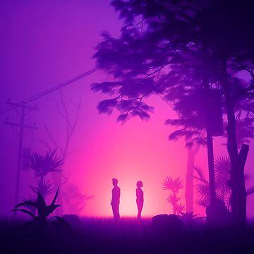 Desert Fog Purple by nickjaykdesign