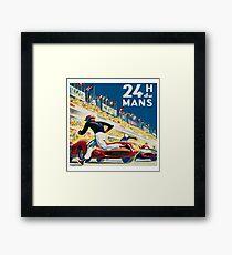 Vintage - 24 Hours of Le Mans (24 H du Mons) Framed Print