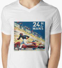 Vintage - 24 Hours of Le Mans (24 H du Mons) Men's V-Neck T-Shirt