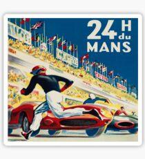 Pegatina Vintage - 24 horas de Le Mans (24 H du Mons)