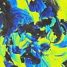 Green Blue Paint Strokes by nickjaykdesign