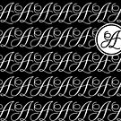Letter A Monogram In Black And White by Almdrs