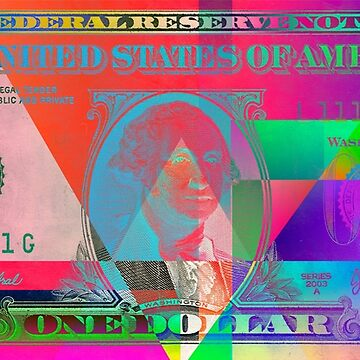 Obverse of a Colorized One U. S. Dollar Bill  by Captain7