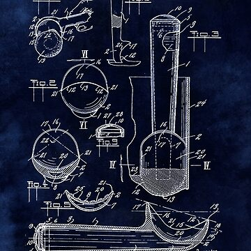 Ice Cream Scoop Blueprint Kitchen Decor by Glimmersmith