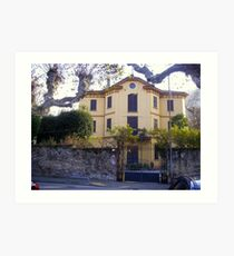 Lovely House on Lake of Como Art Print